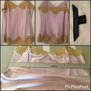 Express Design Studio Cami, Lilac with Tan lace